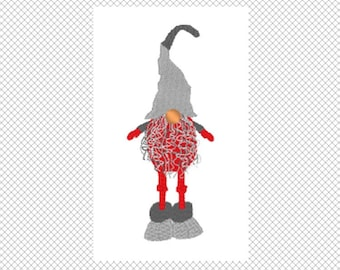 Swedish Gnome  - Tomte - Christmas - Embroidery Design - 5x7 hoop - multiple formats