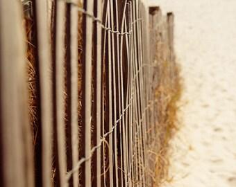 beach fence, sand fencing, beach photography, landscape photo, summer decor, beach cottage, sand dunes, dune grass no 2