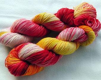 Handdyed SockYarn, 75 Wool, 25 Polyamid 100g 3.5 oz. Nr. 191