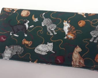 Various Colorful Cats Lady Checkbook Cover Coupon Holder Clutch Purse Billfold Ready-Made
