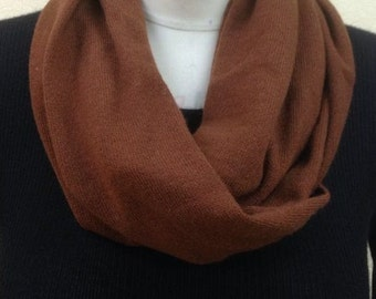 Made from Loro Piana Cashmere Infinity Scarf, 100% Cashmere Neckwarmer in Cioccolate Brown