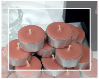 Hand Poured Soy n Beeswax Tealight Candles (Tealights) - Cinnamon