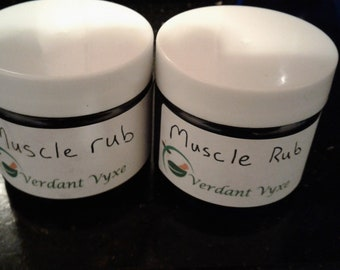 Muscle Rub- Organic, all-natural 1 oz
