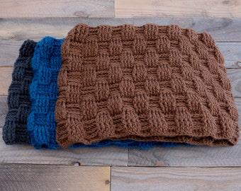 CROCHET PATTERN - The Dawn Infinity Cowl Crochet Pattern - Basket Weave Infinity Scarf - Easy Crochet Pattern - Scarf Pattern - Chunky Cowl