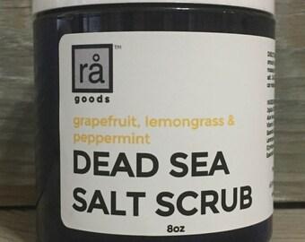 Dead Sea Salt Scrub Grapefruit Lemongrass Peppermint Exfoliating Scrub