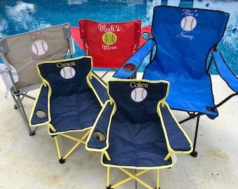 Personalized Baseball Chair, Baseball Mom Chair, Lawn Chair, Folding Chair, Stadium Chair, Softball Chair,  Camping Chair, Tailgating Chair
