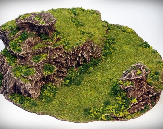 Ramp Spiral - Print your own!- DIGITAL FILE – Miniature Wargaming & RPG rock formation terrain