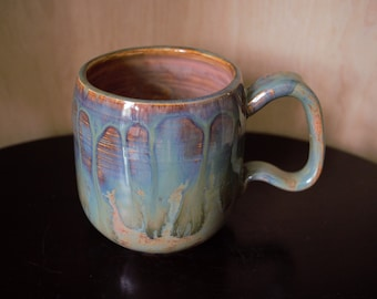 Opal and copper mug