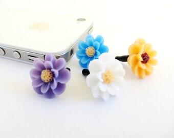 Flower iPhone Dust Plug AntiDust Plug For Headphone Jack