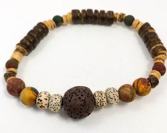 Lava Stone Essential Oil Bracelet - Aromatherapy Jewelry