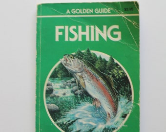 Vintage Full Color Fishing Golden Nature Guide Book 1987
