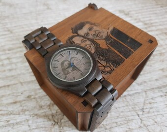mens watch, wooden watch, men's wooden watch, personalized mens wooden watch, wood watch, mens wood watch, engraved men's wood watch, mens