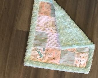 Patchwork Minky Baby Blanket