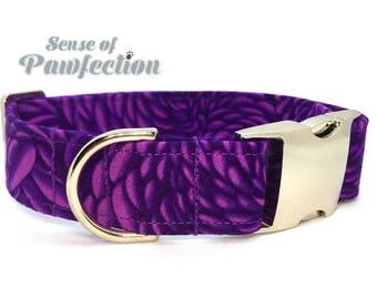 Purple Petals Dog Collar