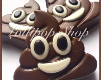 12 Poop Emoji Chocolate covered oreos (Birthday, Emoji, Emoji party favors)
