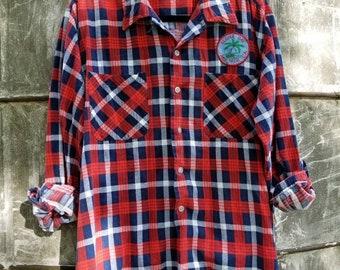 Upcycled Grunge Flannel  - Upcycled Clothing- 90s Style Men's Large