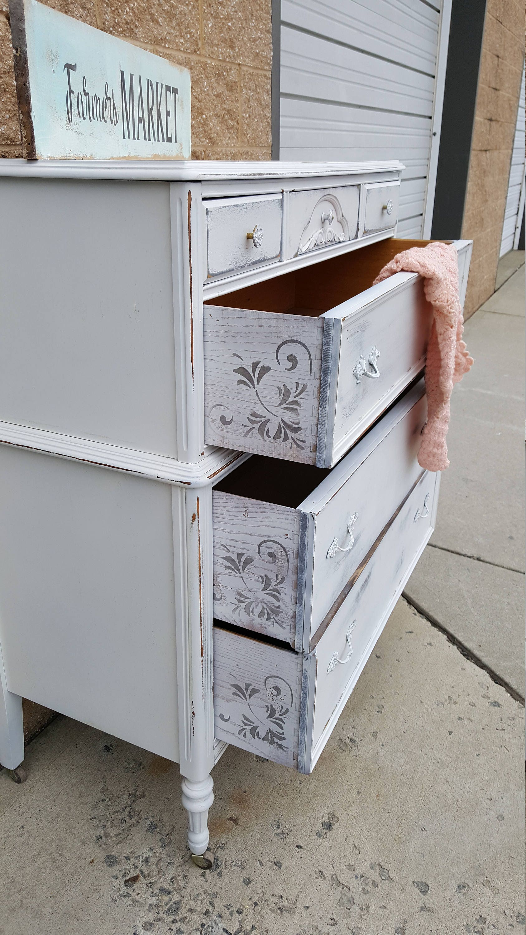 chest distressed in highboy dresser is of featured chic wood light solid painted a drawers shabby pin this