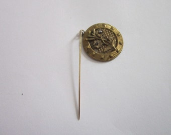 Antique Floral Medallion Stickpin