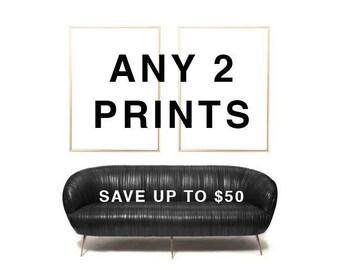 STYLISH GALLERY Wall Art | Stylish Wall Art Print | Stylish Art Print Set | FASHION Print | Chic Minimalist Print | Stylish Monochrome Print