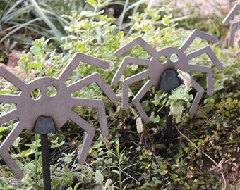 Steel Spider Decoration, Halloween, Unfinished Steel, Garden, Pots, Vases