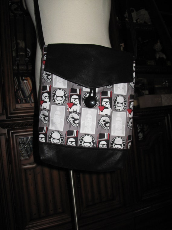 Stormtrooper helmets print cotton unisex shoulder bag or crossbody bag size 14x11x3