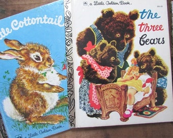 Little Golden Book Collection Hansel and Gretel Little Cottentail and The Three Bears Eloise Wilkin