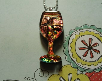 Red Red Wine Glass Necklace
