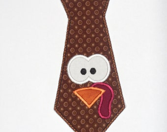 "Embroidered Iron On Applique  ""Turkey Tie"" RTS"