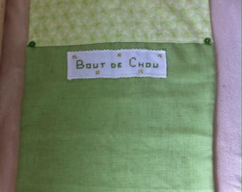 elasticated back to school linen and liberty napkin