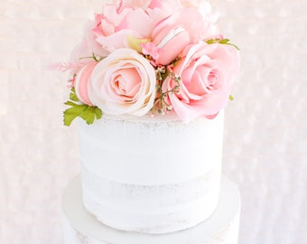Rose Floral Topper- Cake topper, prop cake, party decor
