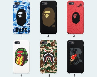 Bape swag brand phone case for iPhone X iPhone 8 Plus 7 Plus iPhone 6 6S Plus iPhone 5 5S SE Samsung Galaxy S7 Edge S8 Plus