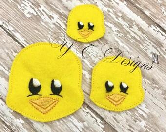 Duck Feltie Spring Duck 1 Head Feltie Embroidery File