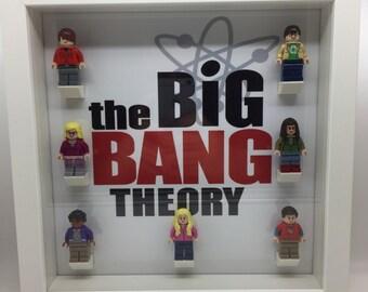 The Big Bang Theory Lego Minifigure Display Frame