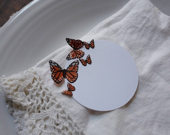 Monarch Butterfly Place Cards