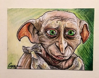Dobby the House Elf Artist Trading Card FREE SHIPPING