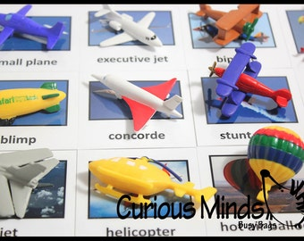 In the Air Transportation to Matching Cards - Match Aircraft Miniatures to Photos