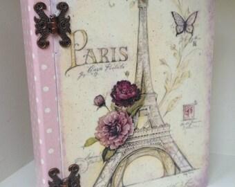 Book box Paris polkadots Keepsake box Trinket box