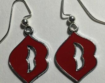 Red Lips Earrings