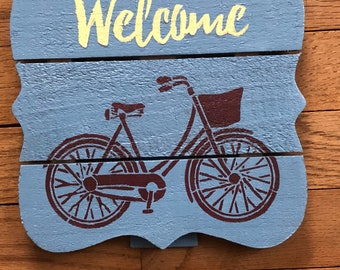 """8""""x8"""" wooden stand up decorative sign"""
