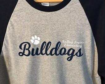 Rolling Prairie Elementary School Spirit Wear Raglan T-Shirt