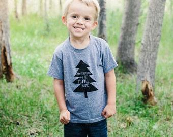Adventure kids tshirt, kids outdoors shirt, mountain toddler tshirt, adventurous kids tee, kids tree tee, kids clothing, kids fashion, tree