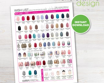 Color Street Nails, Spring Wish List, Flyer/Poster - PRINTABLE Digital File