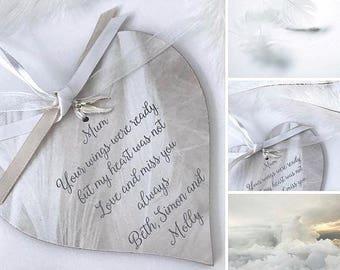 Personalised Bereavement Heart Gift  P204