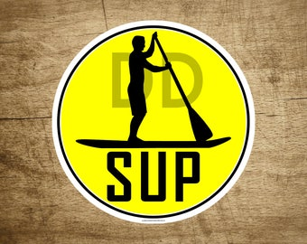 """Stand Up Paddle Board SUP Vinyl Sticker Decal 3"""" x 3"""""""