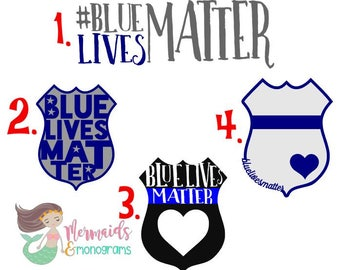 Blue Lives Matter Car Window Decal, Support Police, Police Officer, Police Car Decal, Personalized, Law Enforcement, Back the Blue