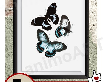 Wall Art Vintage butterfly, Printable butterfly, Print, Wall Print butterfly, Digital Print, Spring, spring time, Check out dicount-Code!