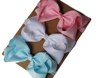 Big bow baby headband, PICK 3, big bow on headband, 6 inch bow headbands, removable headband, large bow headband, big girl head bands