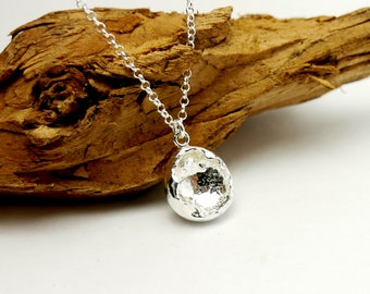 Beautiful sterling silver cocoon necklace with Nugget pendant