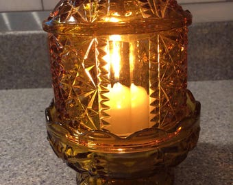 Amber Fairy Light Circa 1970