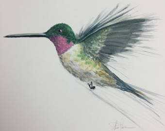 Hummingbird1 Original Watercolor